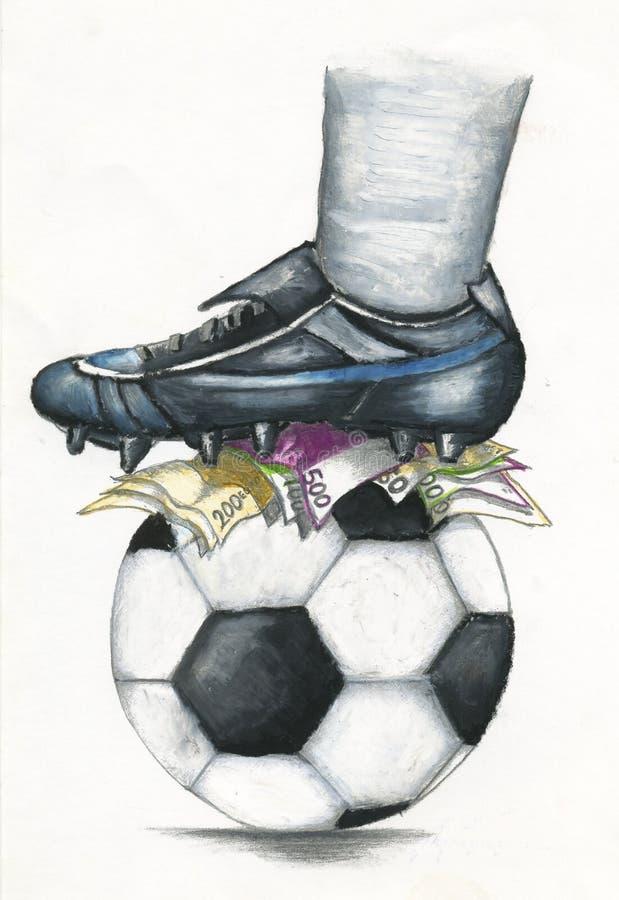 橄榄球市场颜色蜡笔 免版税库存图片