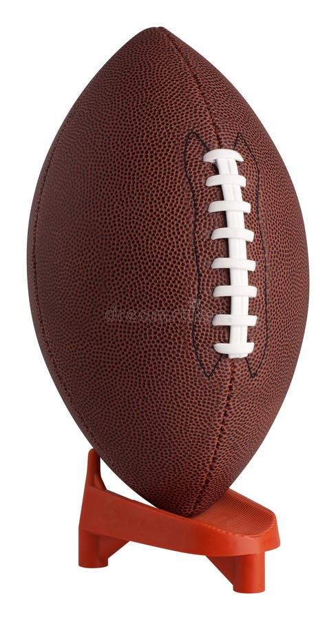 橄榄球开球发球区域 免版税库存图片