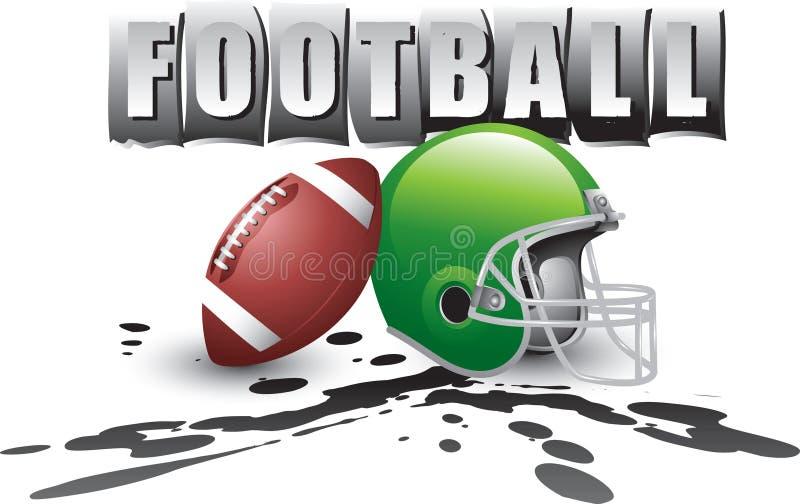 橄榄球徽标泥 向量例证