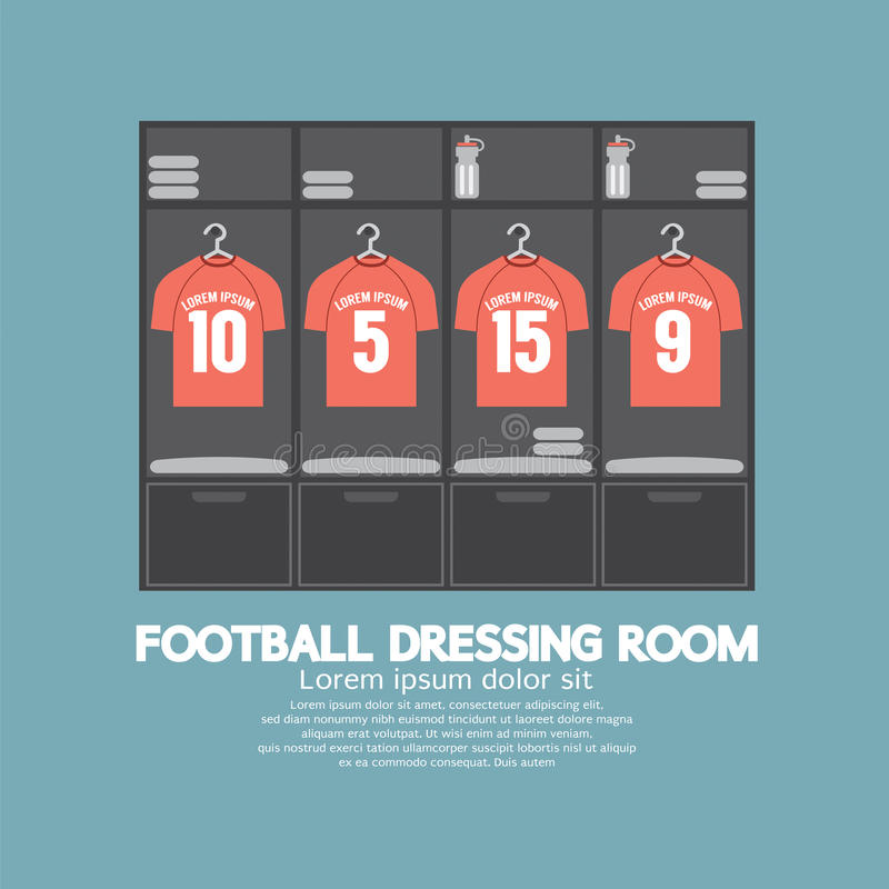 橄榄球或足球化装室 向量例证