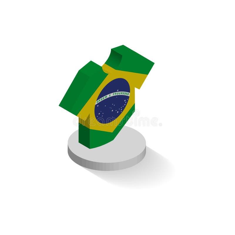 橄榄球或足球象设置了等轴测图包括旗子 向量例证