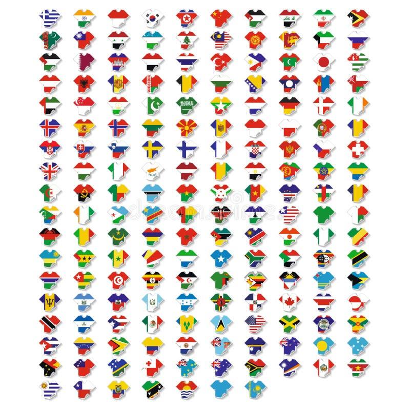 橄榄球或足球象设置了等轴测图包括旗子 皇族释放例证
