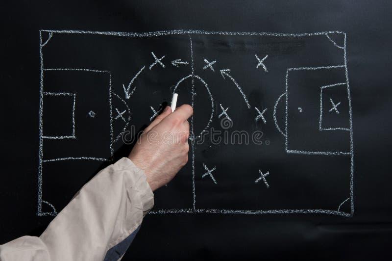 橄榄球战术 免版税库存照片