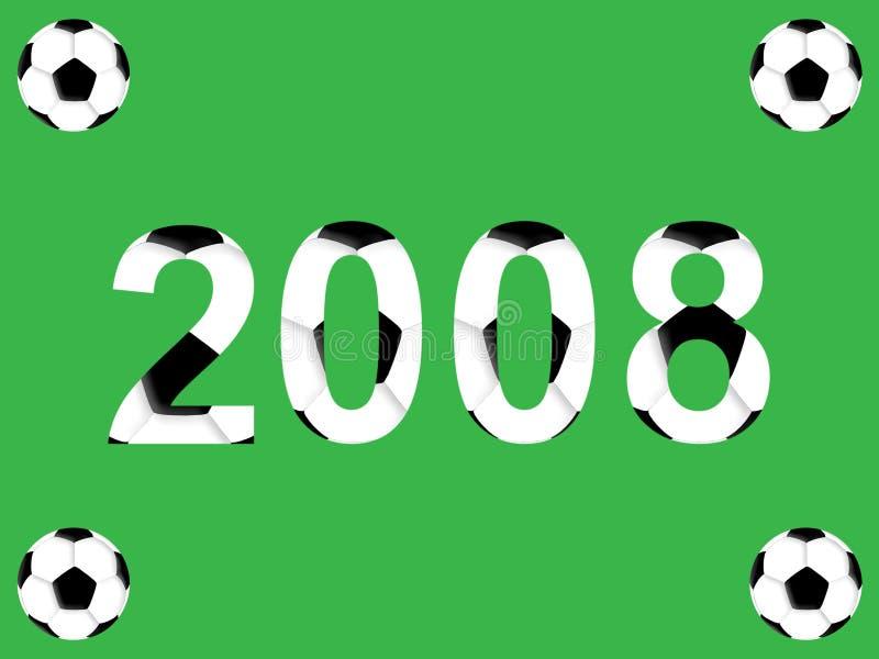 橄榄球新年度 库存例证