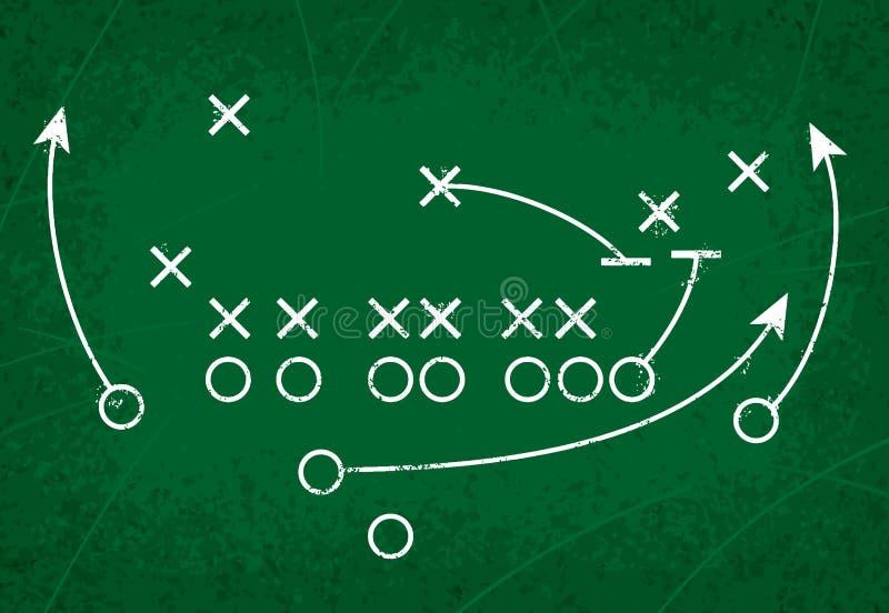 橄榄球方法作用 向量例证