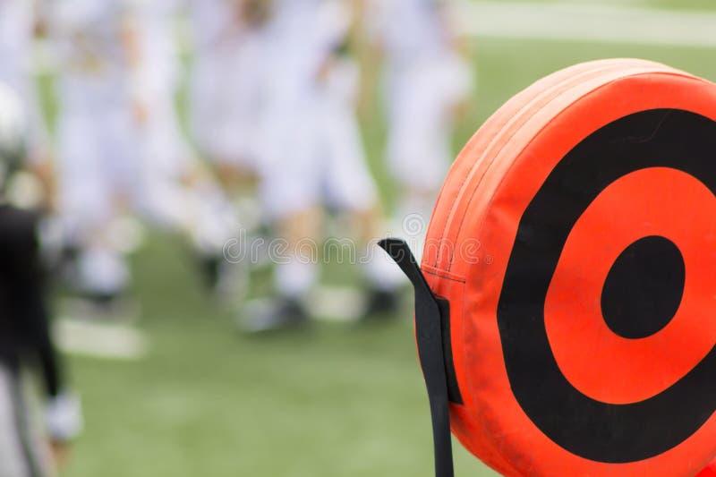 橄榄球束缚标志 免版税图库摄影