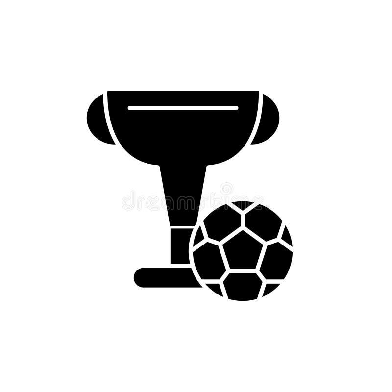 橄榄球杯子黑色象,在被隔绝的背景的传染媒介标志 橄榄球杯子概念标志,例证 皇族释放例证