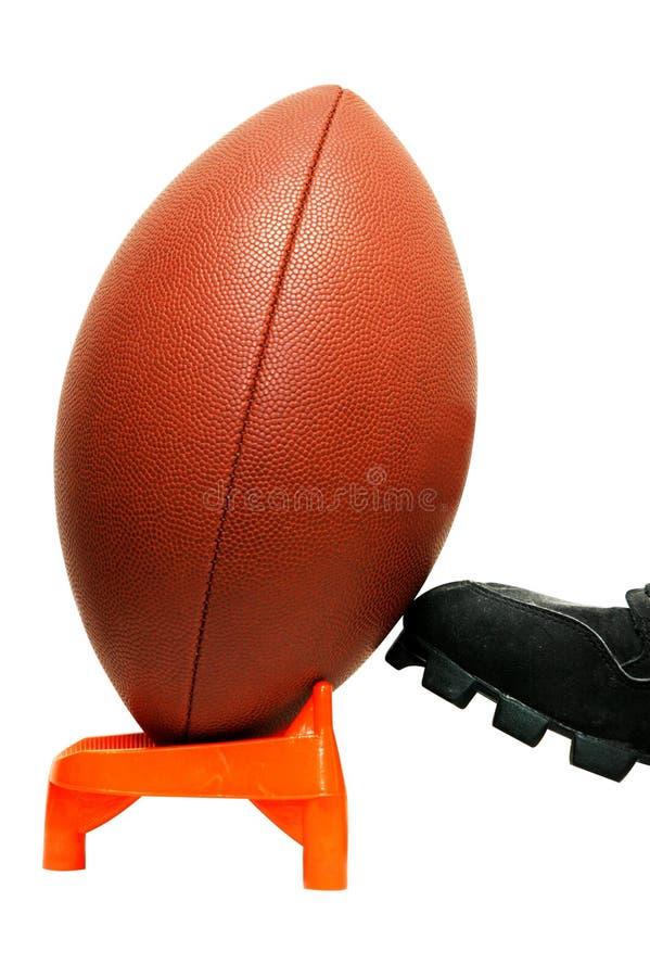 橄榄球查出的开球 库存图片