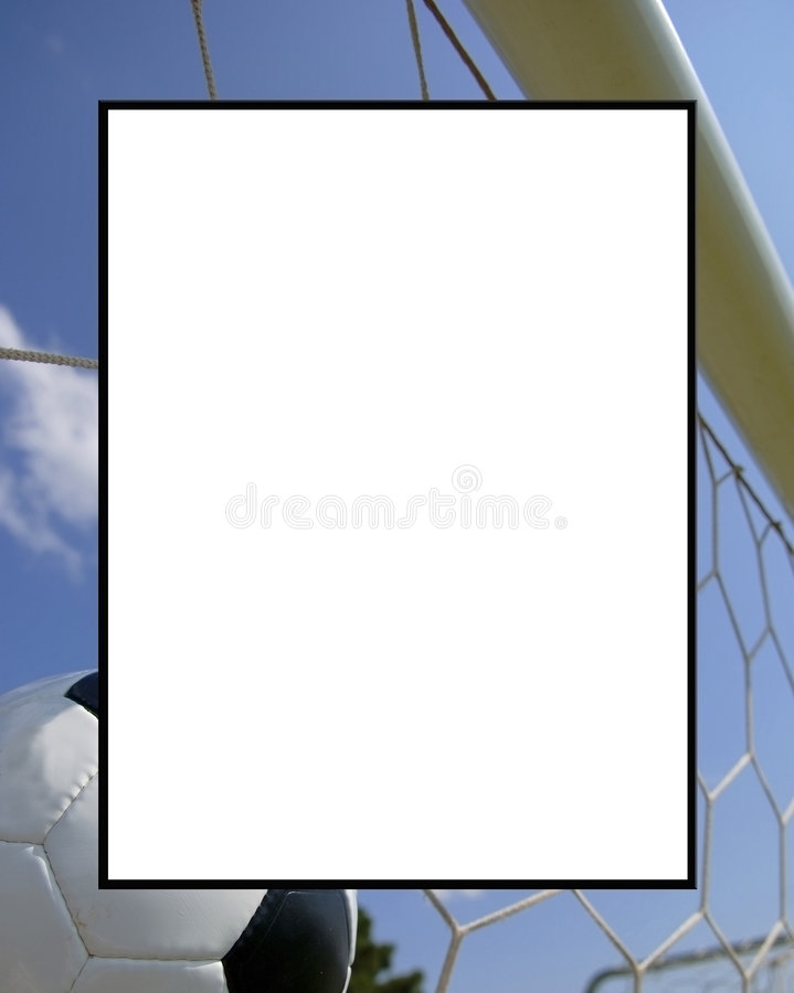橄榄球框架足球 图库摄影