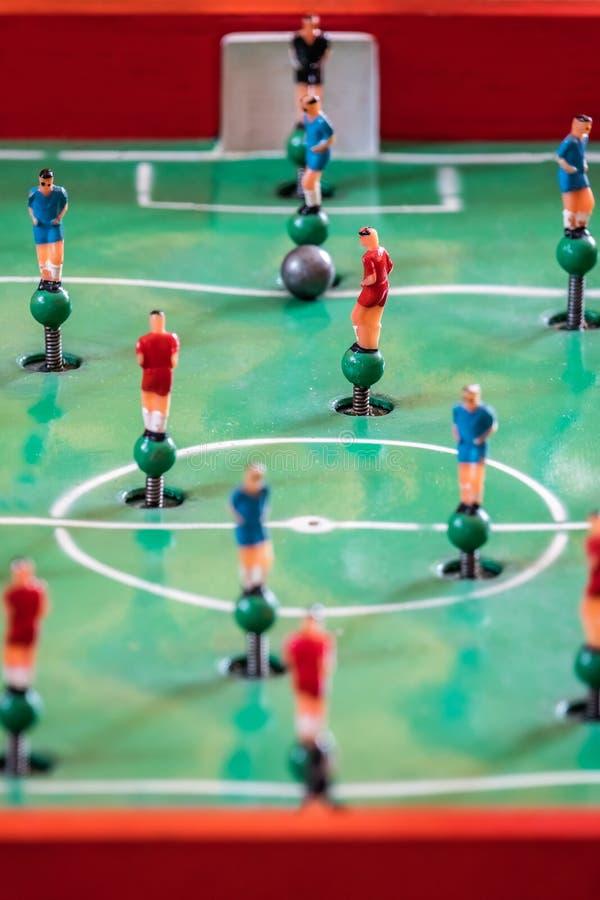 橄榄球桌面比赛形象 库存图片