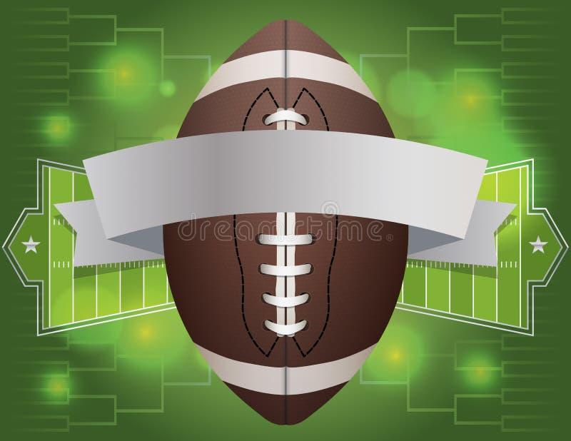 橄榄球横幅例证 向量例证