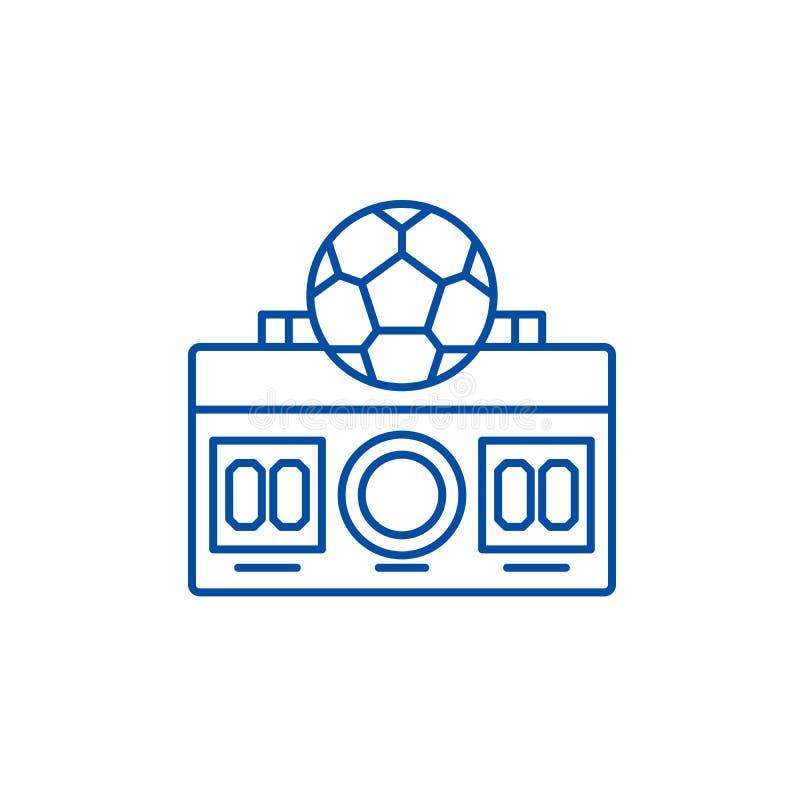 橄榄球比分线象概念 橄榄球比分平的传染媒介标志,标志,概述例证 库存例证