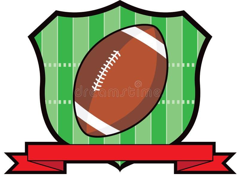 橄榄球烤架盾 向量例证