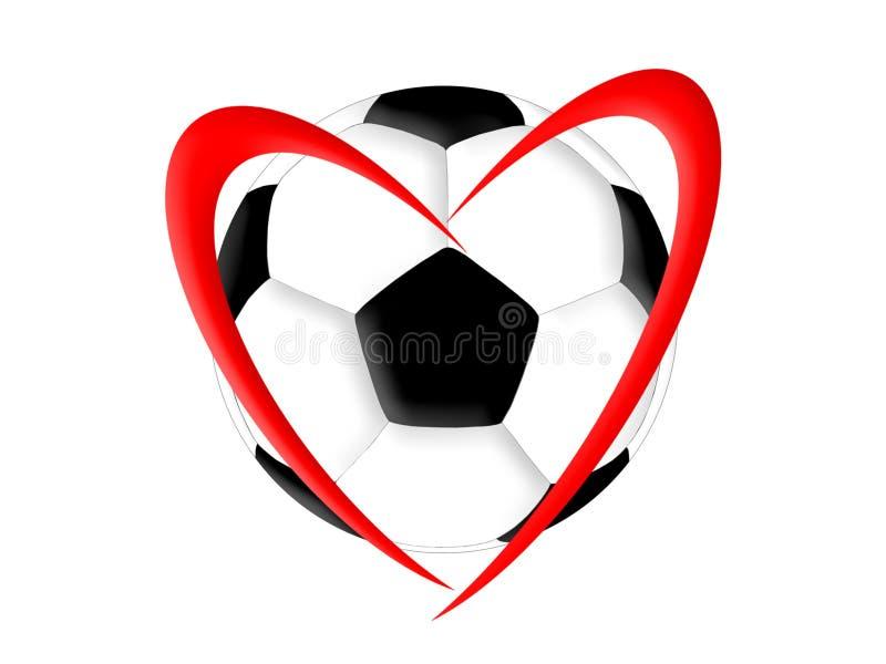 橄榄球爱足球爱 库存例证