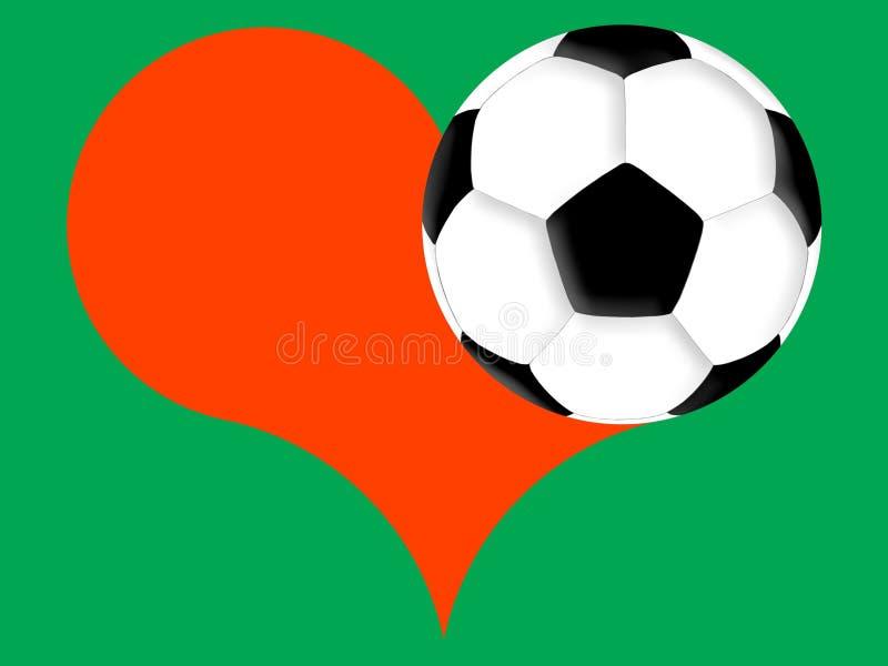 橄榄球爱 库存例证