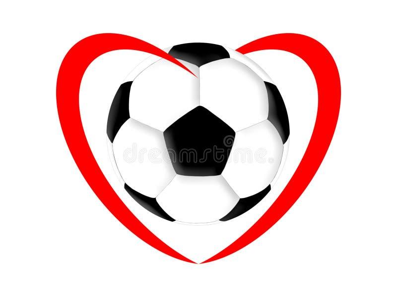 橄榄球爱 向量例证