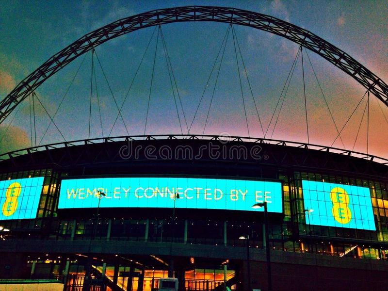 橄榄球王国伦敦符合体育场团结的wembley 免版税库存照片