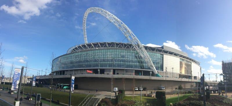 橄榄球王国伦敦符合体育场团结的wembley 免版税图库摄影