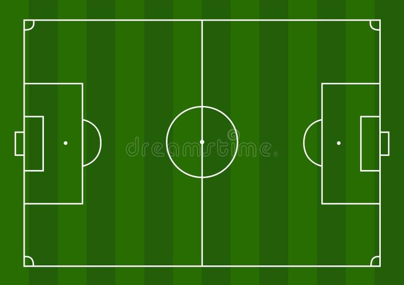 橄榄球球场 向量例证