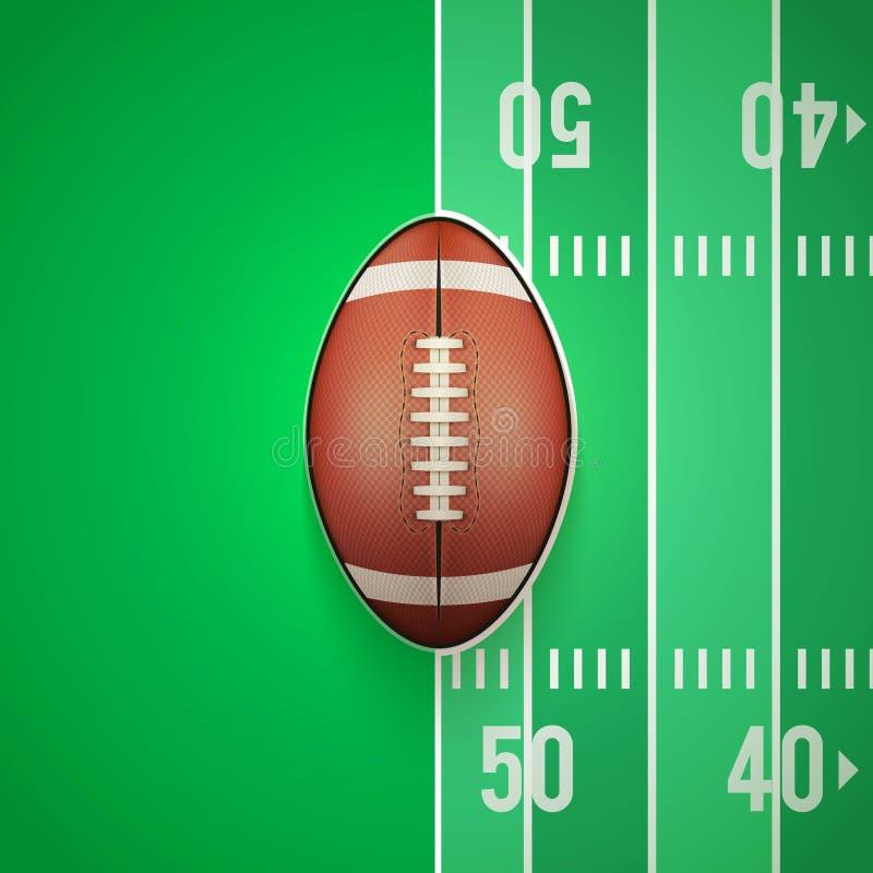 橄榄球球海报模板  皇族释放例证