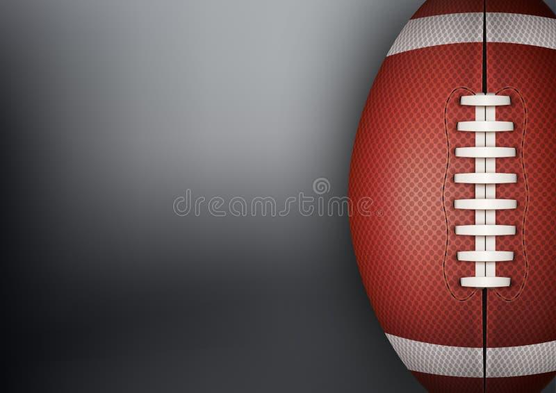 橄榄球球黑暗的背景 向量 库存图片