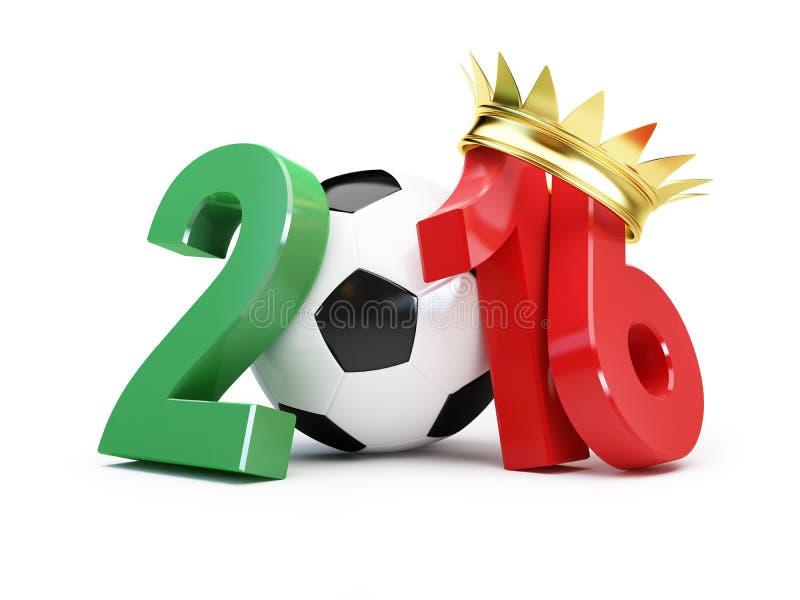 2016年橄榄球的葡萄牙优胜者 3D例证 向量例证