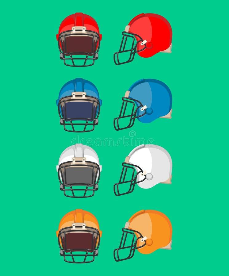 橄榄球盔甲集合 防护器材 库存例证