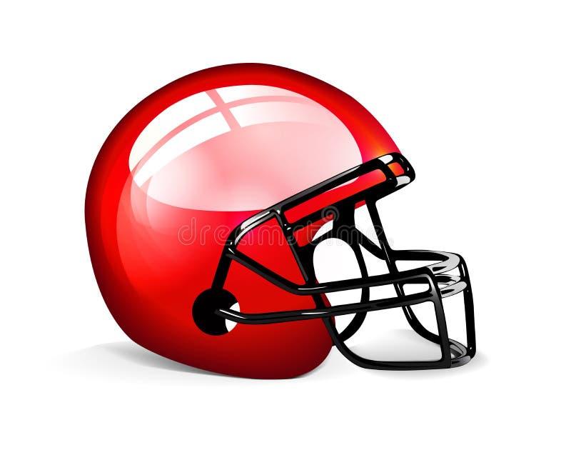 橄榄球盔红色 库存例证