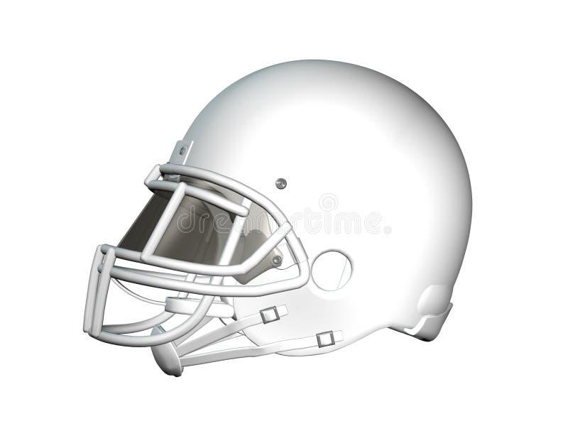 橄榄球盔配置文件白色 库存例证