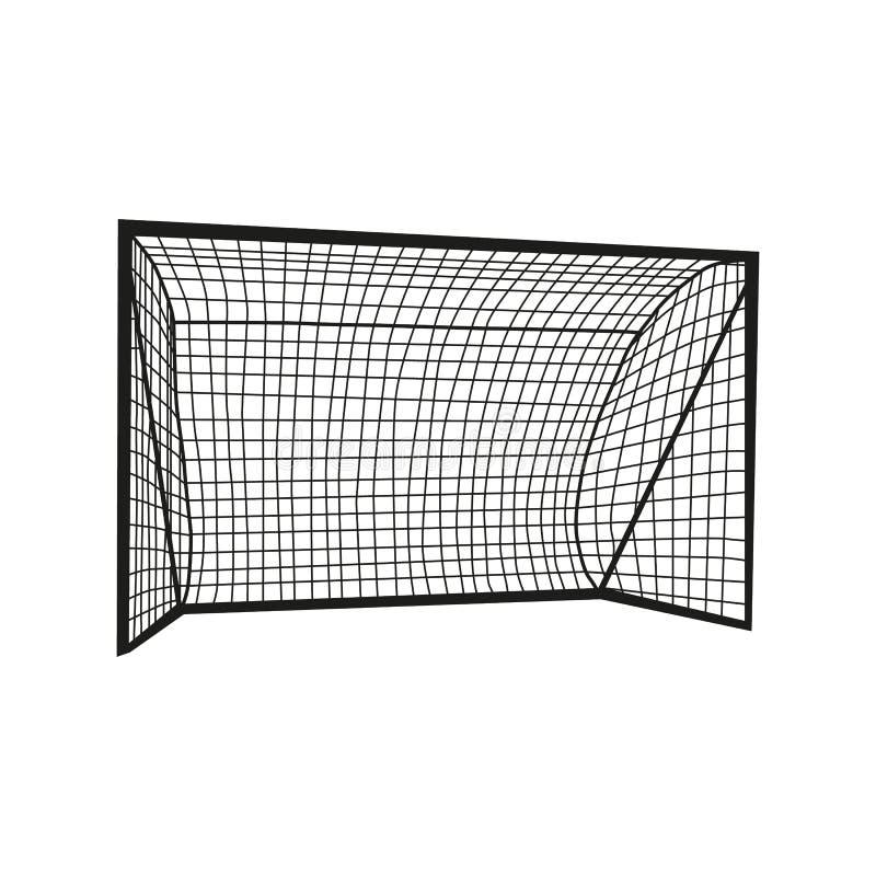 橄榄球目标剪影 库存例证