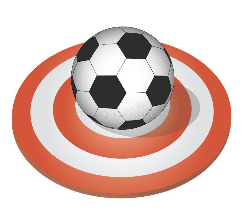 橄榄球目标 皇族释放例证