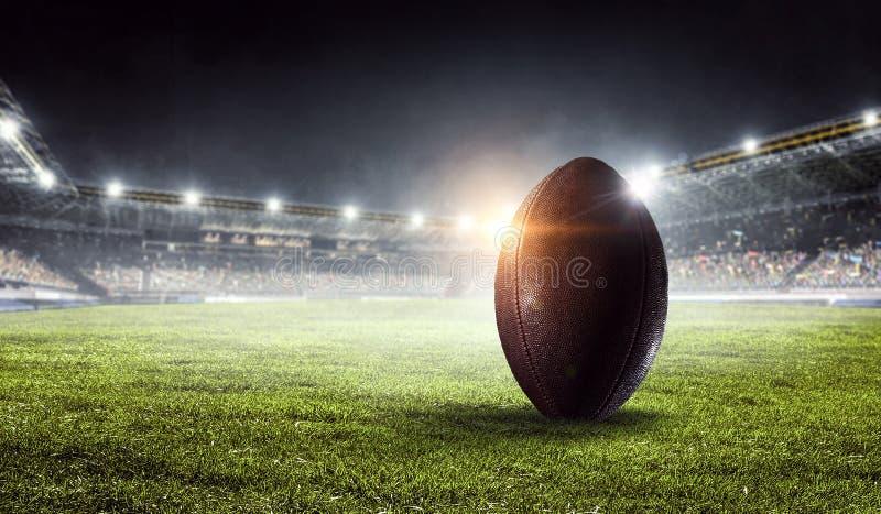 橄榄球竞技场 混合画法 混合画法 库存图片