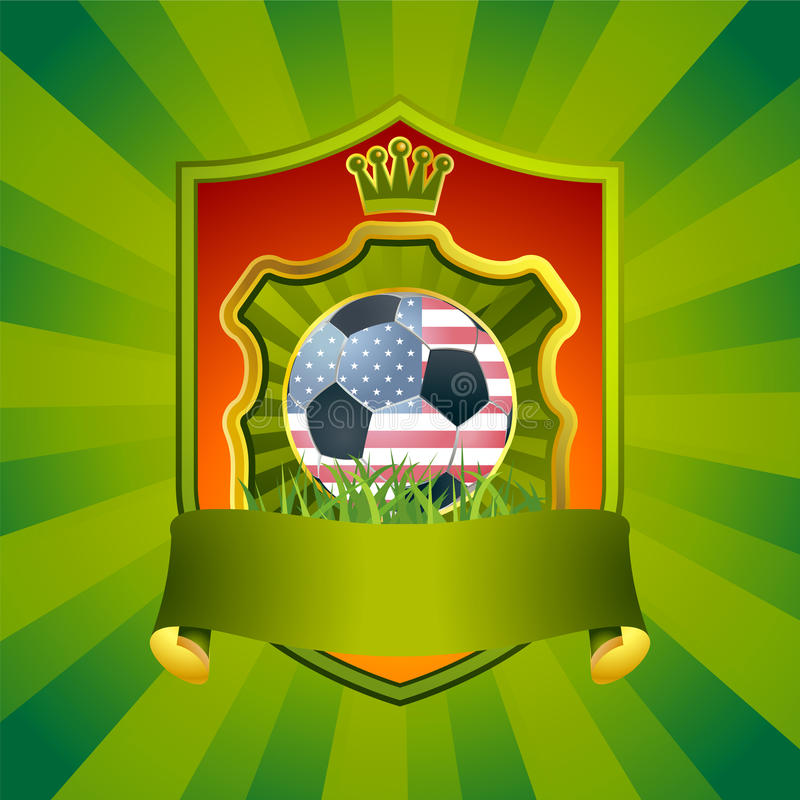 橄榄球符号美国 皇族释放例证