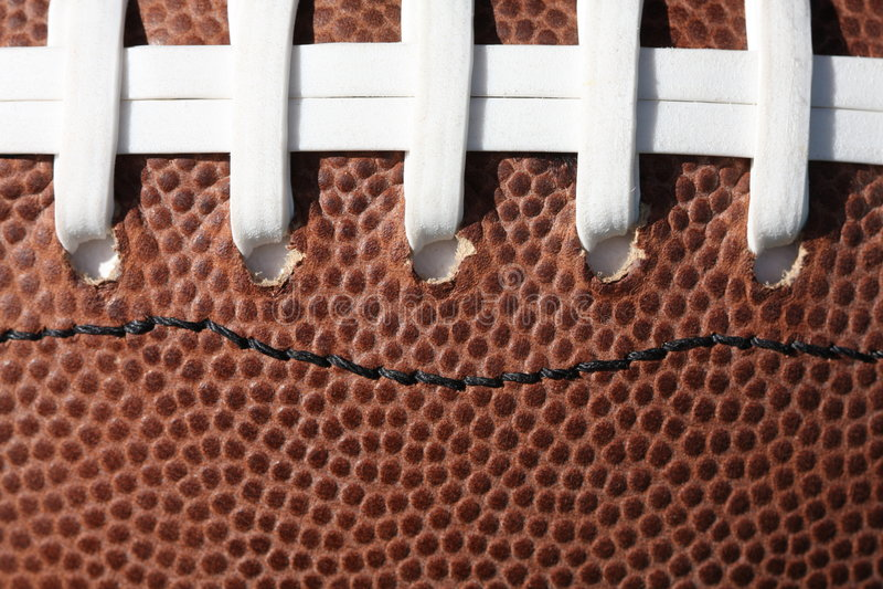 橄榄球系带纹理 图库摄影