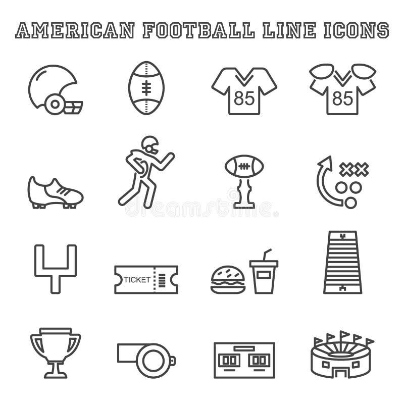 橄榄球线象 向量例证