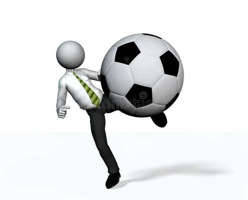 橄榄球经理使用 库存例证