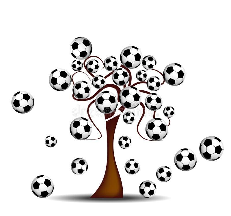 橄榄球结构树 皇族释放例证