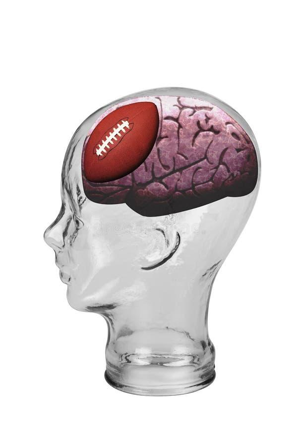 橄榄球脑子 免版税图库摄影