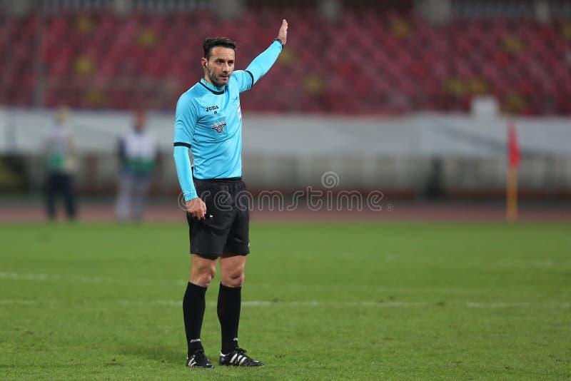 橄榄球裁判员,塞巴斯蒂安Coltescu 免版税图库摄影