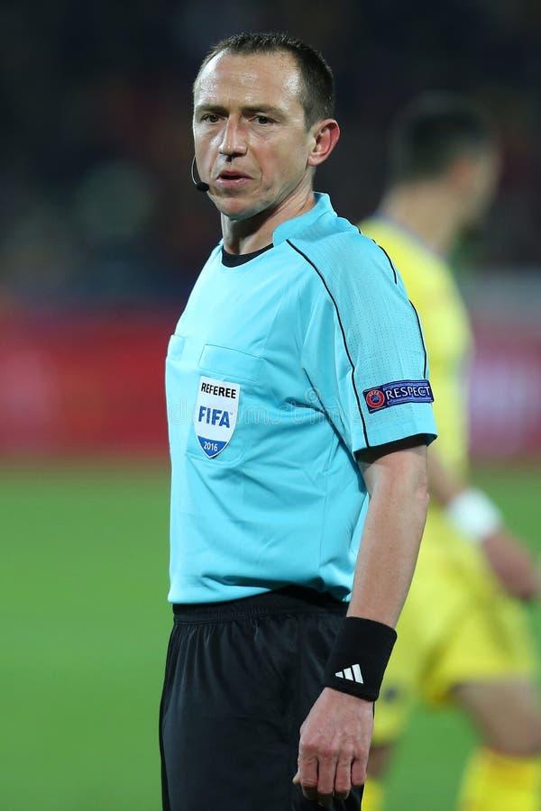 橄榄球裁判员,红润Buquet 免版税库存图片