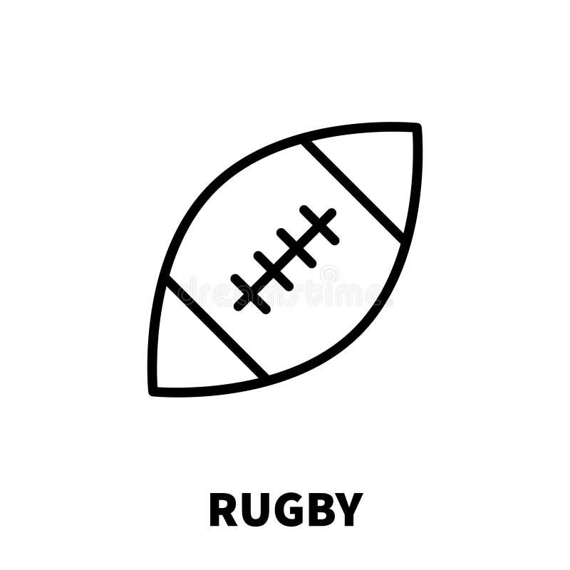 橄榄球象或商标在现代线型 向量例证