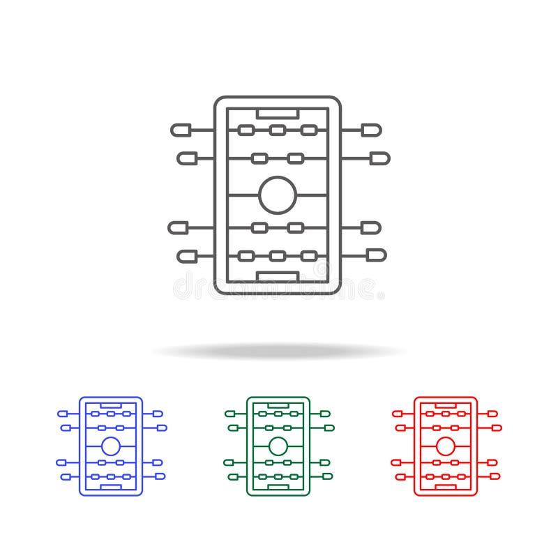 橄榄球象棋  在多色的象的元素流动概念和网apps的 网站设计的象和开发 库存例证