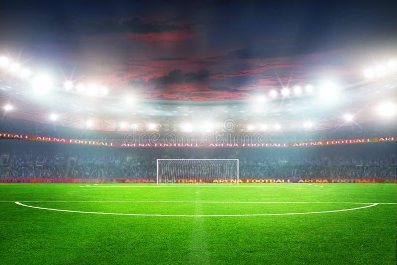 橄榄球赛体育场 免版税库存图片