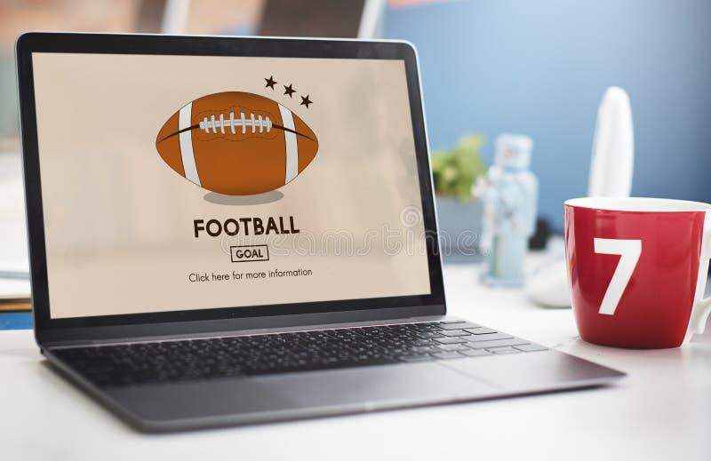 橄榄球赛球戏剧体育图表概念 免版税库存照片
