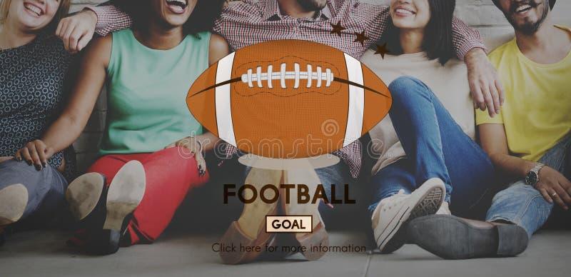 橄榄球赛球戏剧体育图表概念 库存图片