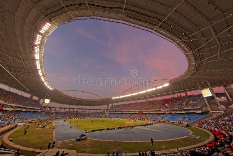 橄榄球赛Flamengo与Botafogo在里约热内卢巴西 库存照片