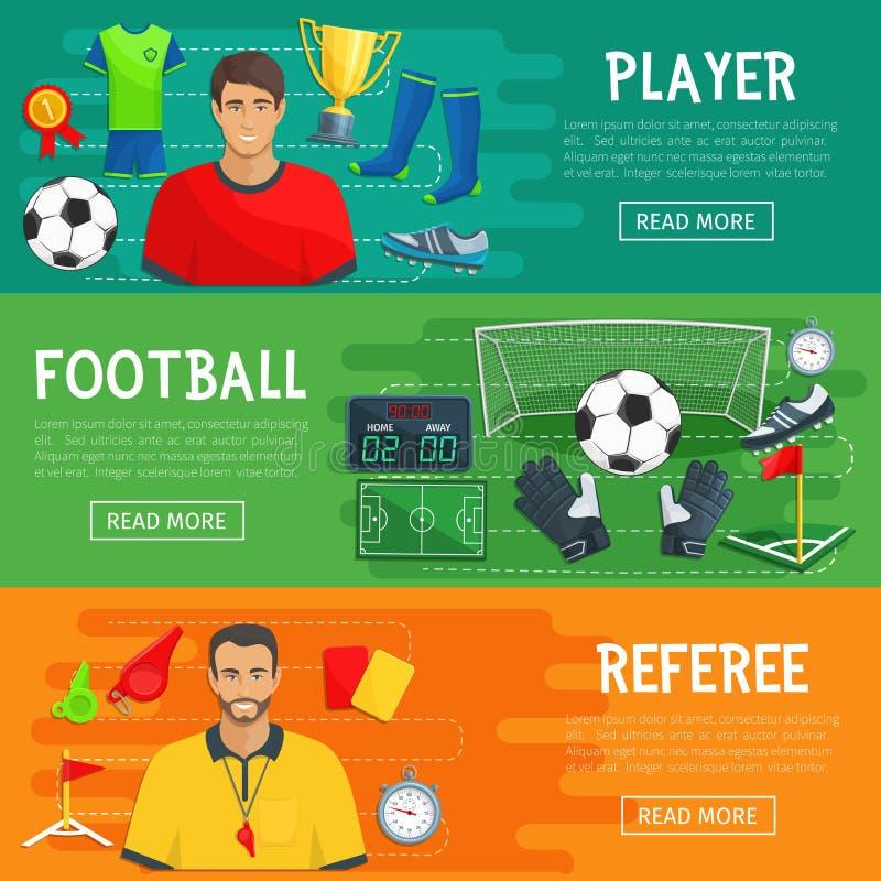 橄榄球足球赛项目传染媒介横幅  库存例证