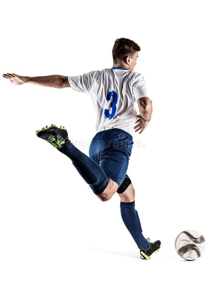 橄榄球足球运动员 库存照片