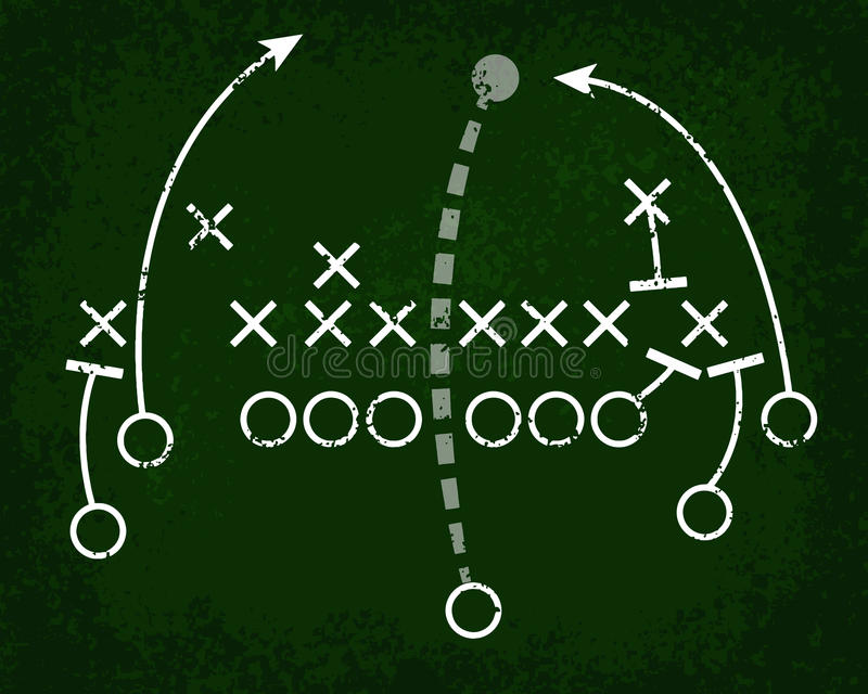 橄榄球运动黑板 库存例证