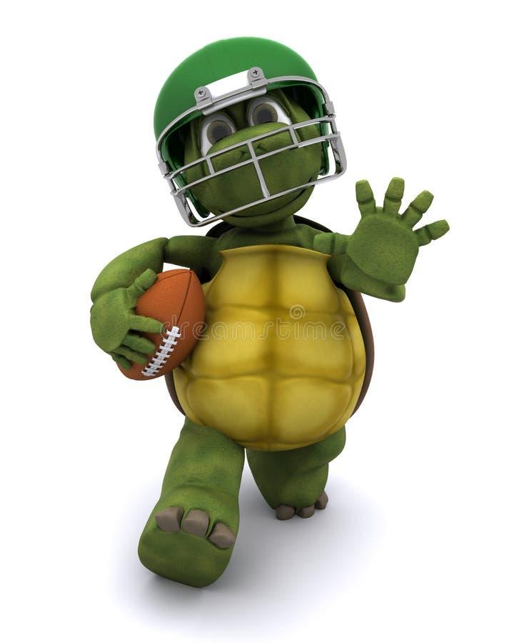 橄榄球连续草龟 向量例证